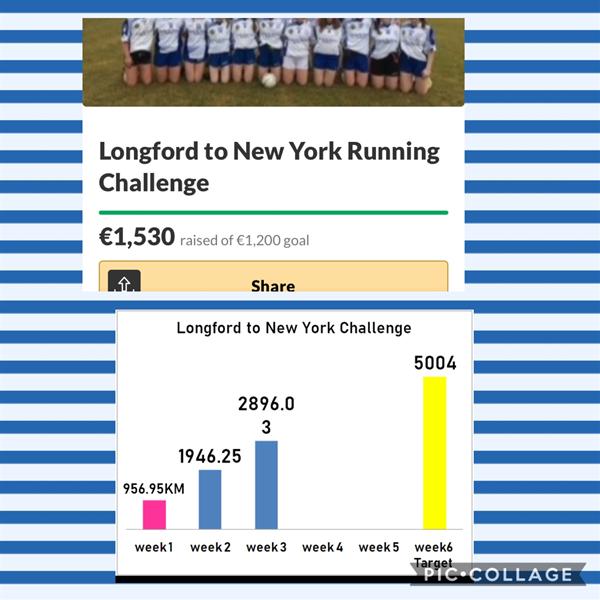 Longford to New York Challenge Update!